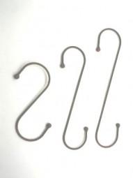 S-Haken mini 4 mm mit 2 Kugeln 25x9 cm