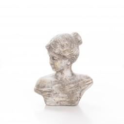 Büste ANITA z. Stellen Keramik natur 24 cm