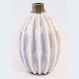 RP Vase bauchig hellgrau