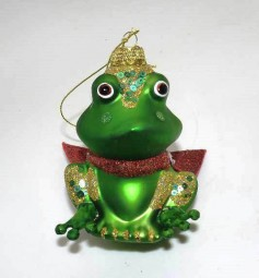 Glasfrosch mit rotem Umhang 2-tlg. in Box