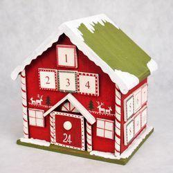 Holzkalender Haus nieder 24 Türen 21,5 cm