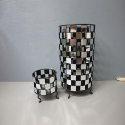 RP Kerzenhalter mit Spiegelchen hoch