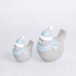 RP Keramikvogel mittel graublau