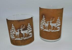 Bogen halbrund klein Wald/ Tiere mit Glas