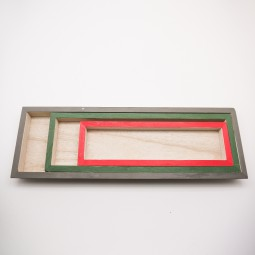 Unterteller 3tlg. a. Holz rechteckig