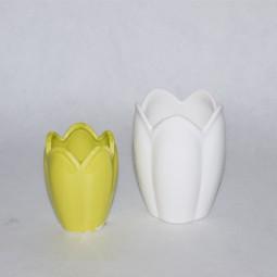 Vase Tulpe mini hellgrün Keramik