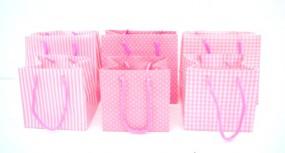 RP Tasche pink m. Kordel sortiert