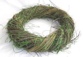 Kranz gemischt mi. grün/ natur, 40x10 cm