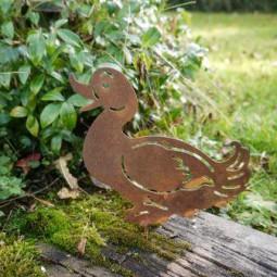 Ente mit Schnabel offen mit Dorn