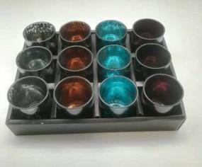 RP Teelichthalterbox 4 Farben sortiert