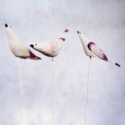 RP Vögel a. Stab 3tlg. sortiert