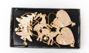 Box 6tlg. gold Baum/Herz/Hirsch 3-4 cm