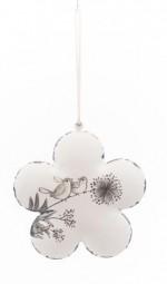 Blume z. Hängen klein creme m.Vogerl