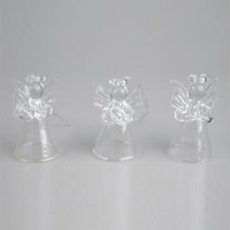 Glasengelbox natur 3tlg. h= 4,5 cm