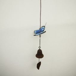 RP Windspiel blauer Schmetterling m. Glocke