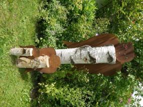 Engelkopf mit Blume ROST MITTEL