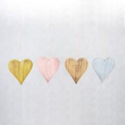 Holzherzen 4 Farben sortiert klein