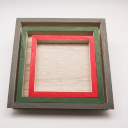 Unterteller 3tlg. viereckig Holz