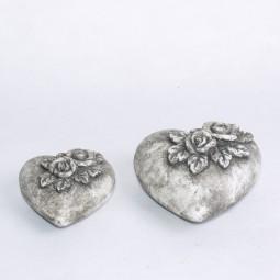 RP Keramikherz mit Rosen gross