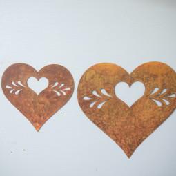 Herzhänger mit Ornament klein
