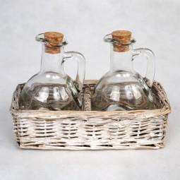 RP Körbchen rechteckig inkl. 2 Flaschen
