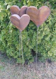 Herz klein auf Stab