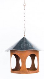 Vogelhaus a. Kette rund 28x28 cm