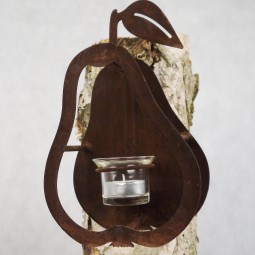 Teelichthalter Birne mit Dorn ROST