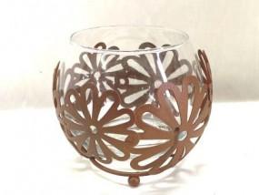 Teelichthalter Blume gr., 12,5x11 cm