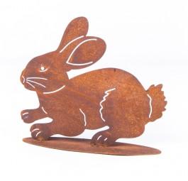 hoppelnder Hase gross auf Platte, 35x30 cm