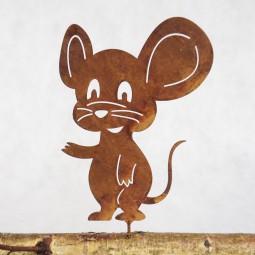 Maus mit grosse Ohren m. Dorn ROST