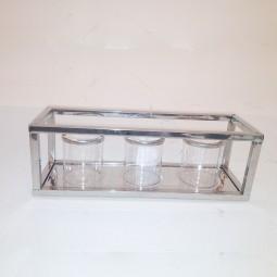 RP Teelichthalter modern SILBER 10 cm
