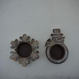 RP Teelichthalter Schneemann/ Flocke