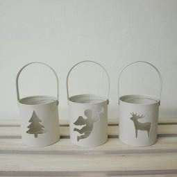RP Teelichthalter rund 3-fach sortiert 15 cm