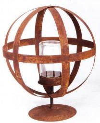 Windlicht Kugel mit Querst. inkl. Glas kl. 37348 (9x15),