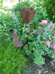 Rose auf Stl riesig h= 90 cm