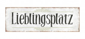 "Metallschild ""Lieblingsplatz 30 x 10 cm"