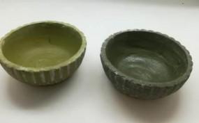RP Keramikschale grün sort.