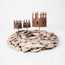 Kerzenhalter Krone mit Dorn gross