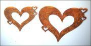 Herzhänger mit 3 Miniherzen gross