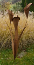 Stecker 3 schlanke Blumen m Blätter