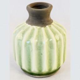 RP Vase m. Rillen hellgrün