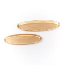 Teller oval gold klein
