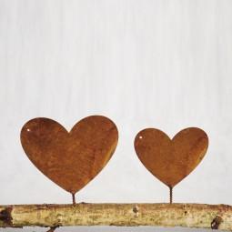 volles Herz mit Dorn gross ROST