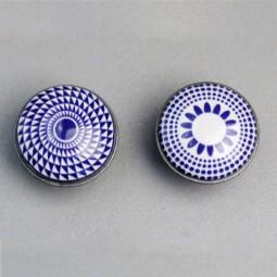 Türknopf Ornament BLAU