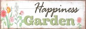 "Metallschild ""Happiness Garden"" 30x10 cm"