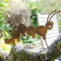 Gartenwurm gross mit Dorn ROST