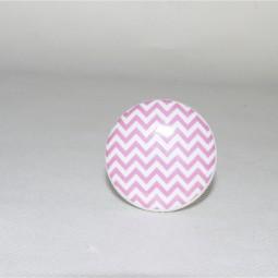 Türknopf pink rund